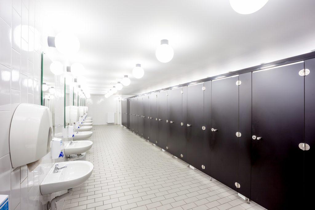 Commercial bathroom stalls