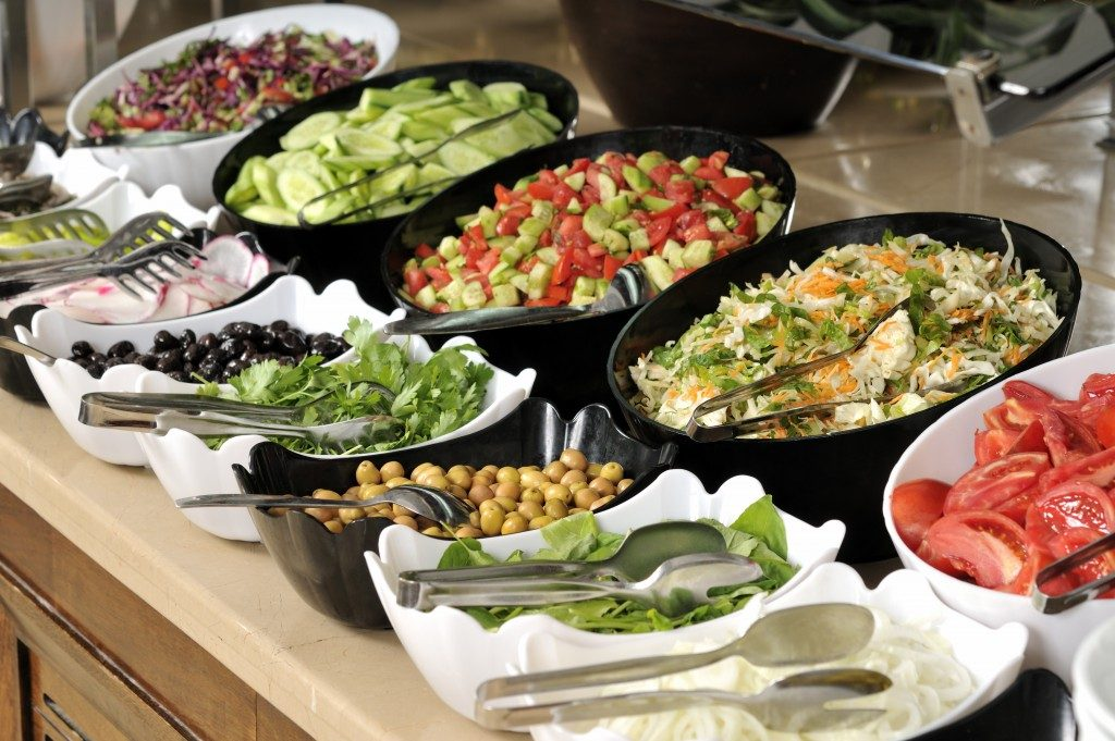 Healthy catering food