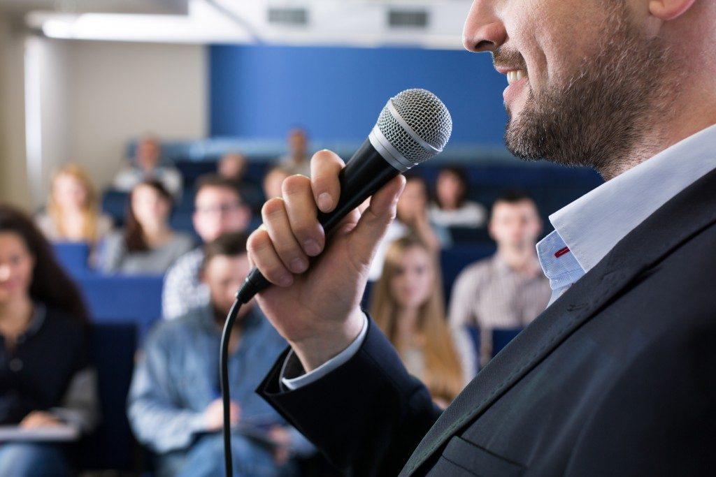 a motivational speaker