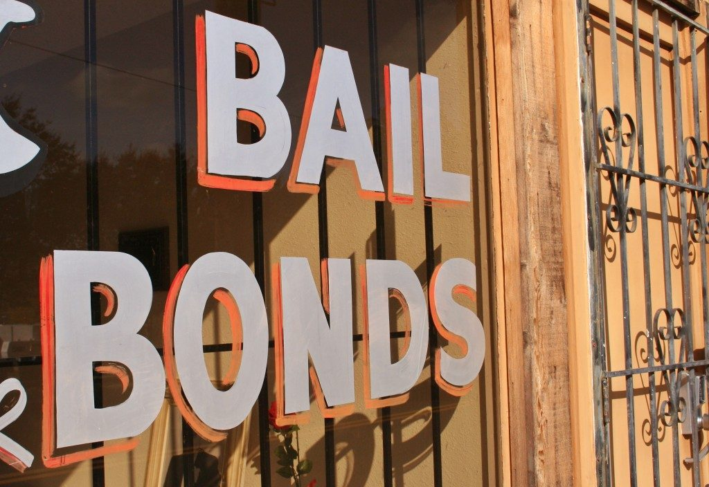 Bail Bonds sign on the window