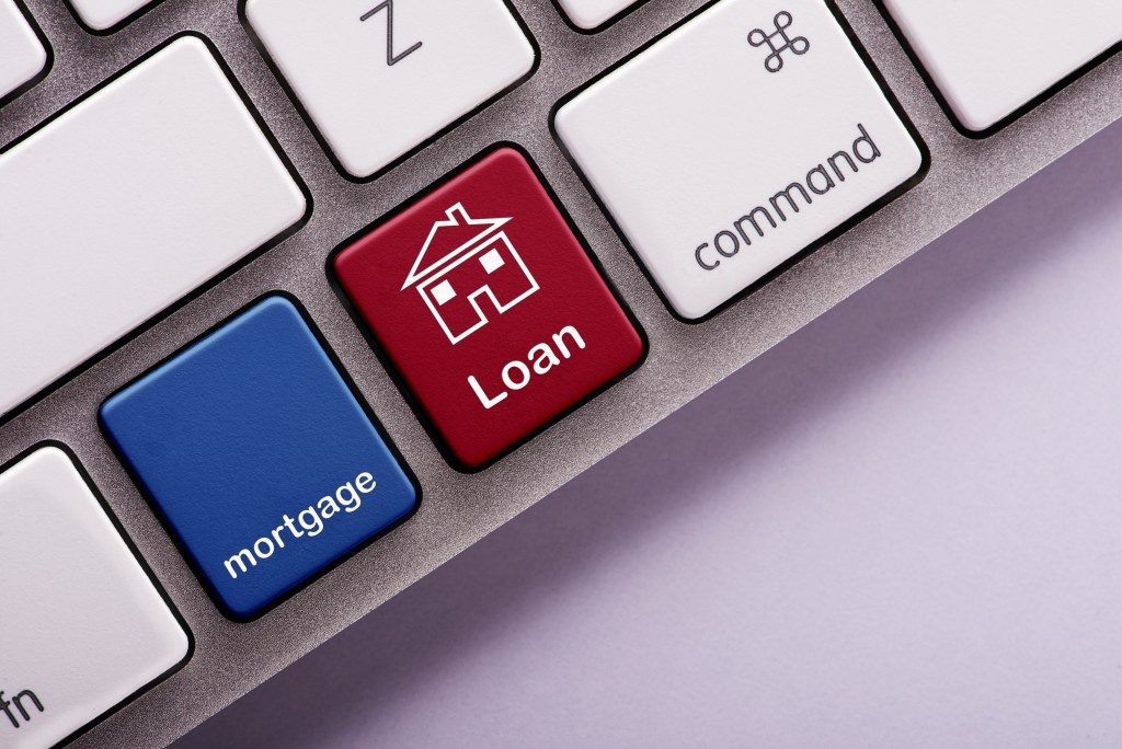 mortgage loan button on keyboard