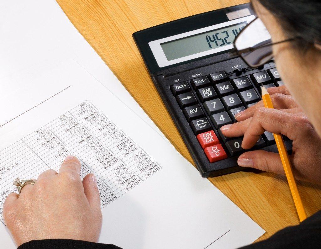 person computing tax