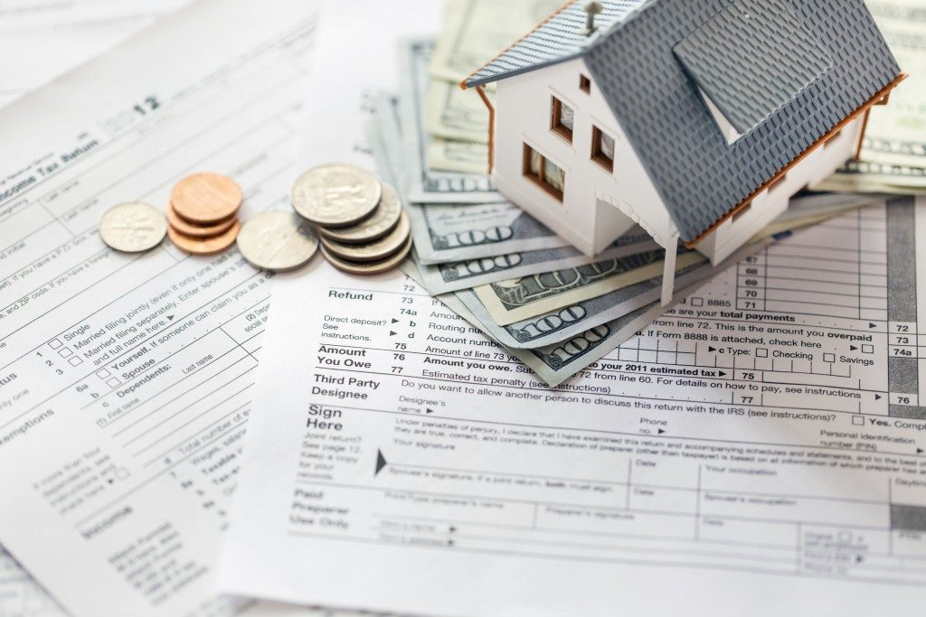 money and bills related to real estate