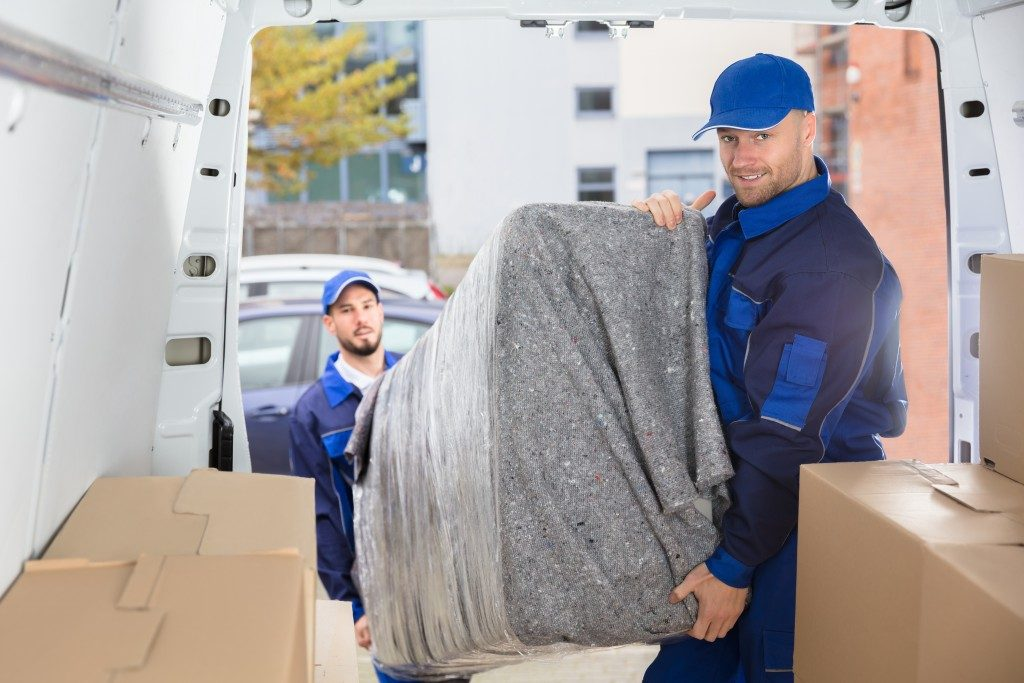 Movers doing their job