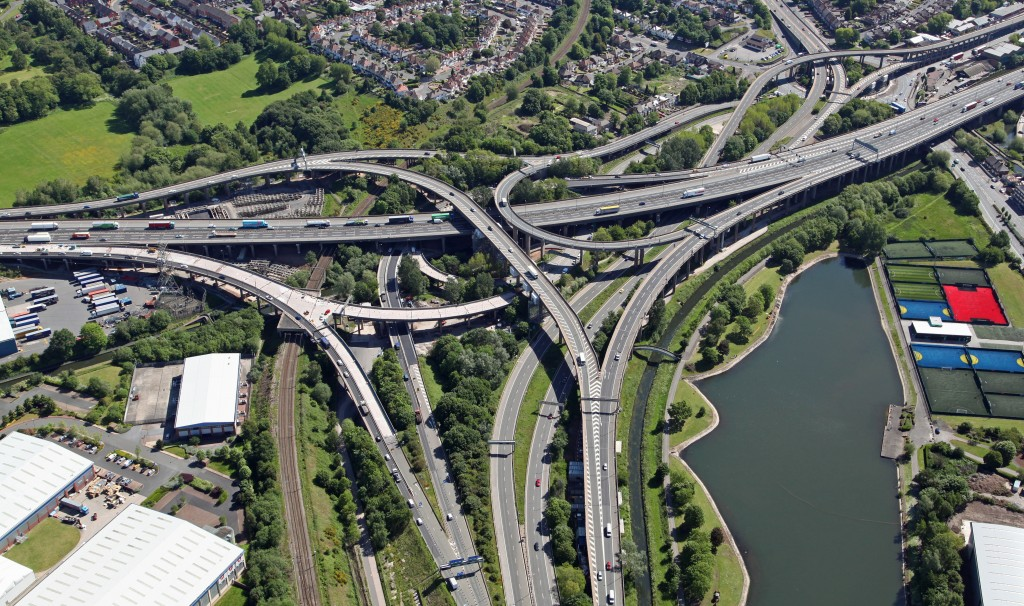 roads top view