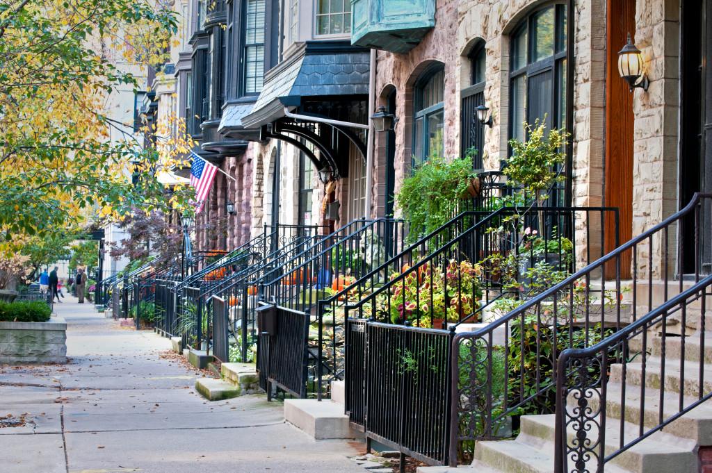 Autumn on a residential street